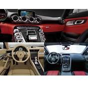 Mercedes AMG GT Vs Porsche 911 Jaguar F Type Interior