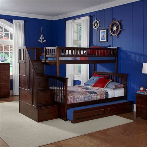 bunk beds twin over full with stairs twin over full bunk bed with stairs adorable staircase