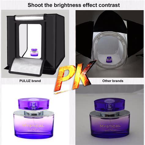 Photo Studio Mini Dengan Lu Led Putih puluz photo studio mini portable dengan led dan 3pcs background size l black jakartanotebook