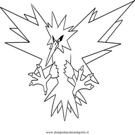 pokemon zapdos coloring pages free pokemon zapdos coloring pages