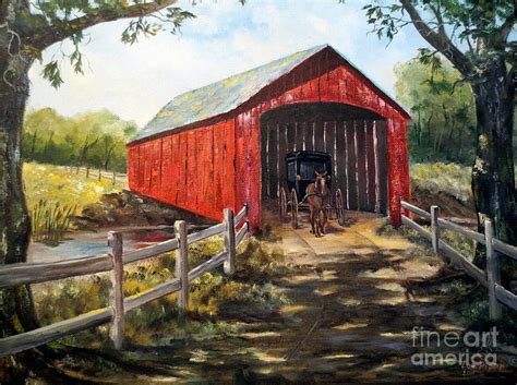 Farmhouse Blog by Amish Country Painting By Lee Piper