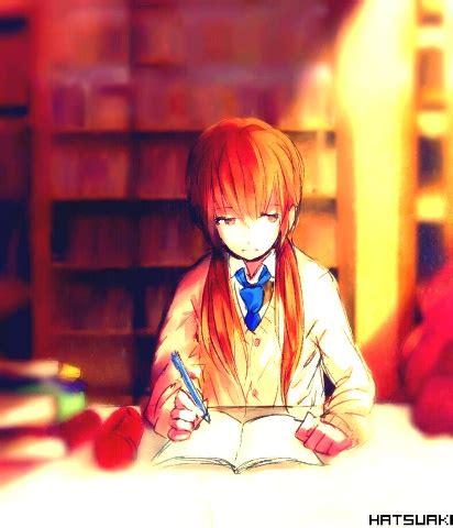 anime girl studying wallpaper anime girl studying anime pinterest