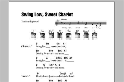 swing low sweet chariot ukulele swing low sweet chariot sheet music by traditional
