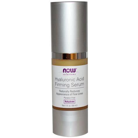 Serum One now foods solutions hyaluronic acid firming serum 1 fl