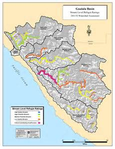 california watershed map coastal watersheds gt watersheds gt coast gt gualala