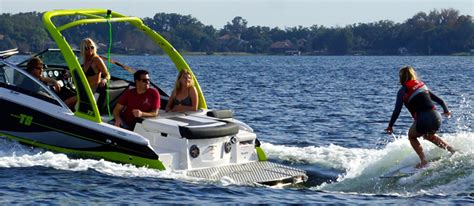 speed boat surfing four winns ts222 stern drive wake surfing boats
