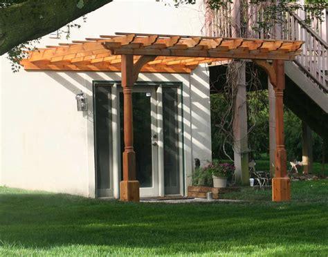 red cedar vintage classic wall mount pergolas pergolas