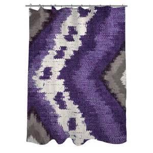 Thumbprintz tribal ikat plum shower curtain ebay