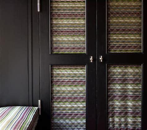 Fabric And Wiring For Closet Doors Good Ideas Pinterest Cloth Closet Doors