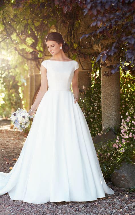 modest wedding dress  sleeves essense  australia