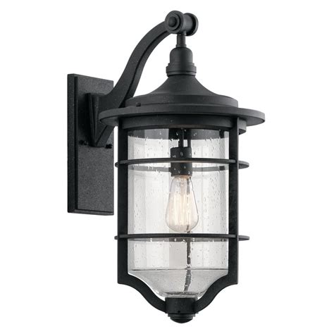 Seeded Glass Outdoor Wall Light Black Kichler Lighting Kichler Lights Outdoor