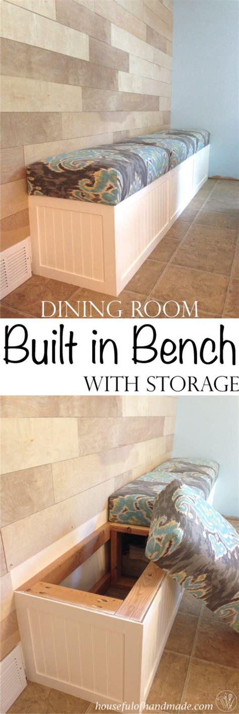 built in dining bench plans 36 diy dining room decor ideas page 4 of 4 diy joy