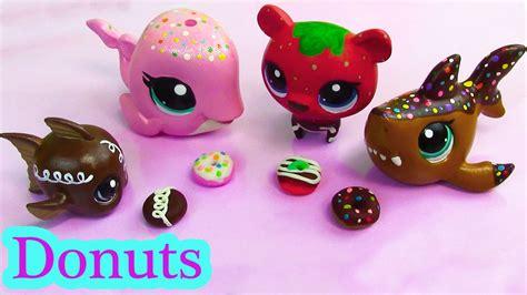 diy puppy shoo littlest pet shop play doh donuts custom diy mini lps food playdoh
