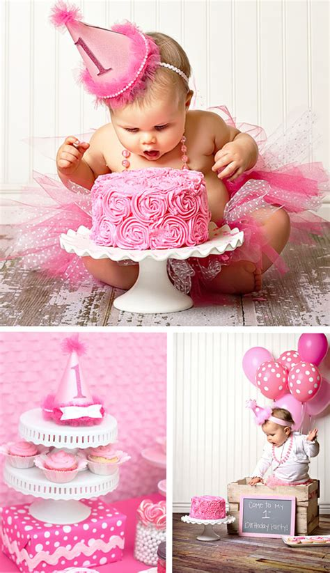 themes first birthday party baby girl adorable pretty in pink 1st birthday party hostess with