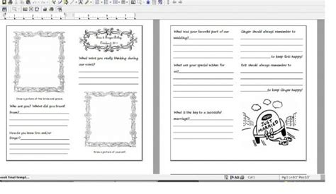 wedding guestbook template woohoo my diy guestbook pages weddingbee photo gallery