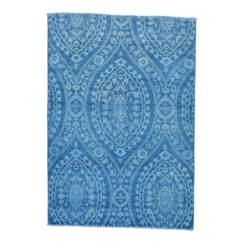 5 x 7 rugs 100 5 x 7 overdyed peshawar blue cast 100 wool knotted rug moabb88c the rug shopping