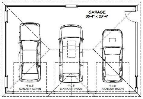 3 Car Garage Width by 3 Car Garage Floor Plans Inspiration Decorating 39579