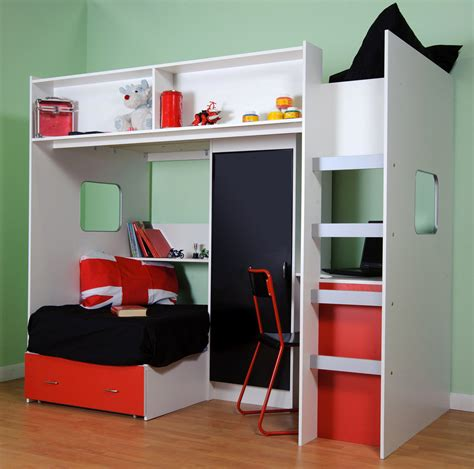 High Sleeper Bed With Futon by Roland Childrens High Sleeper Loft Bed