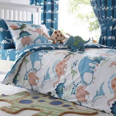 Dinosaurs Bedroom Set Boys Bed In A Bag Comforter Sheets Childrens Bedding Ebay Bluezoo Blue Dinosaur Print Duvet Cover And Pillow Set Debenhams