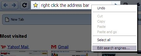 Chrome Search Not Working In The Address Bar Add Fefoo To Chrome