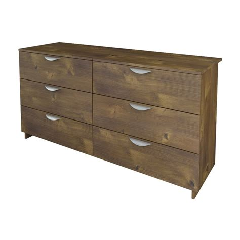 shop nexera nocce truffle 6 drawer dresser at lowes