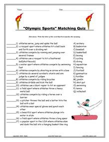 Olympics games esl vocabulary worksheets printables exercises