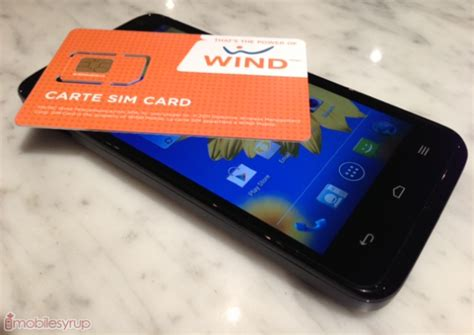 wind mobile sim wind mobile lightly loved sale mobilesyrup