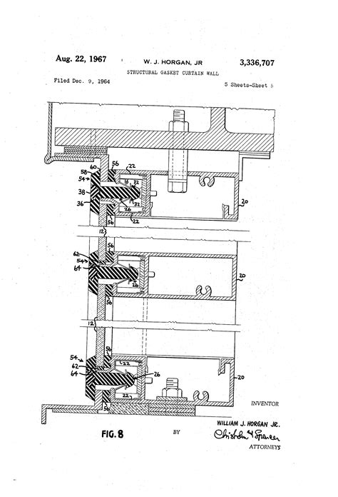 curtain wall gasket patent us3336707 structural gasket curtain wall google