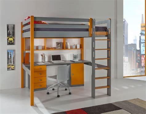 bureau r馮lable en hauteur lit enfant mezzanine secret de chambre