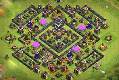 th9 layout update 10 best th9 farming base and war base layouts 2017