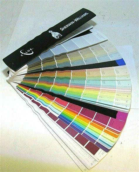 sherwin williams color fandeck fan deck  paint chips