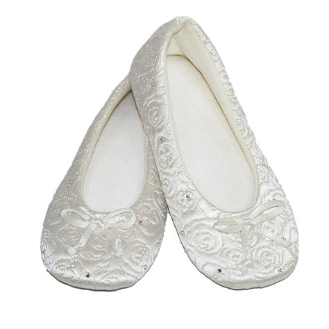 totes isotoner slippers womens terry lined quilted ballerina slippers by