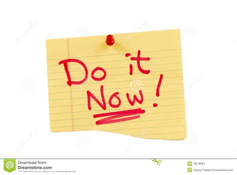 It Should Be Noted That Today Is The One Year Anni by Yellow Do It Now Note Stock Photo Image Of Bulletin