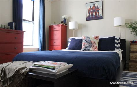 navy and red bedroom master bedroom reveal 6 buggin out once future home