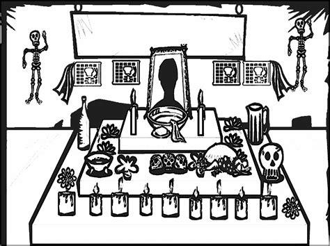 imagenes para colorear ofrendas dia muertos jugar y colorear dibujos para colorear d 237 a de los muertos
