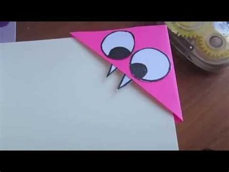How To Make A Book Out Of Printer Paper - corner bookmark tutorial
