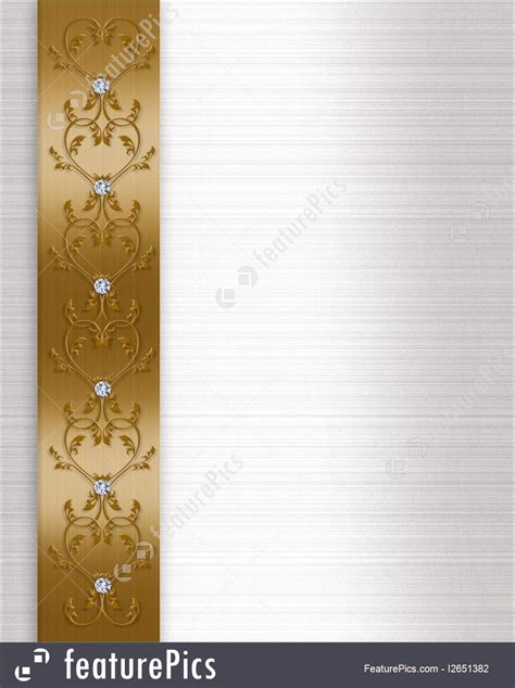Wedding Border Gold by Wedding Invitation Border Gold Illustration
