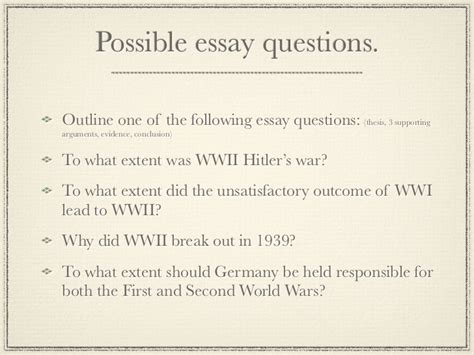 Causes Of World War 2 Essay by Conclusions For Essays On Wwii