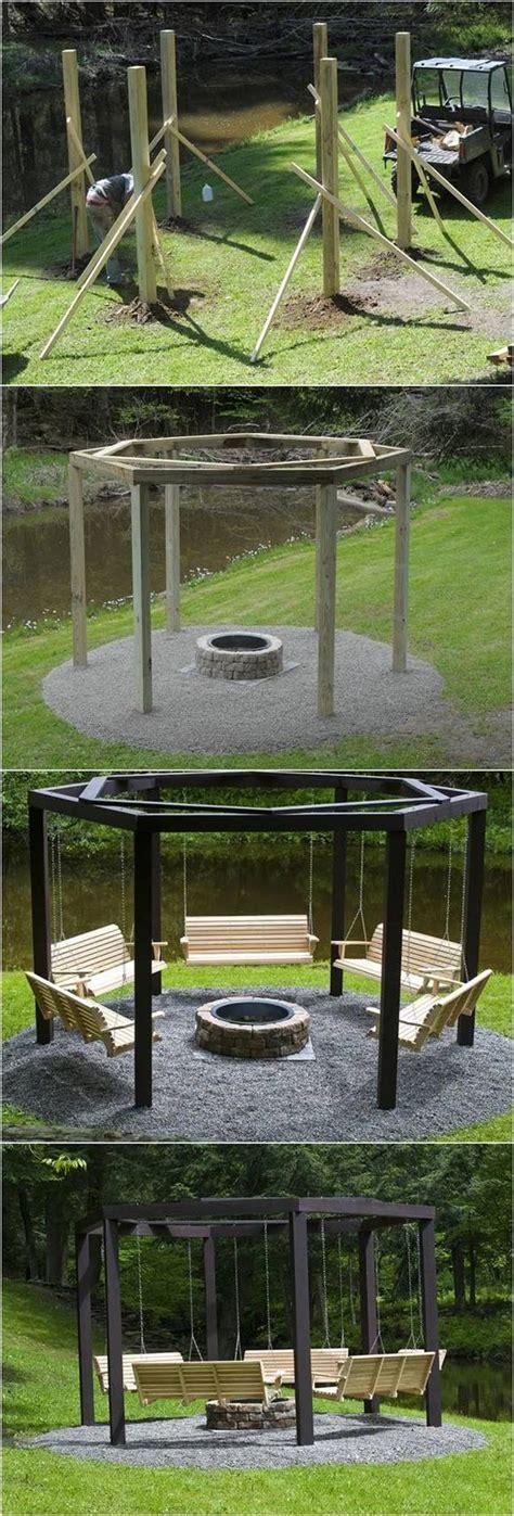 fire pit swing seating best 25 fire pit gazebo ideas only on pinterest outdoor