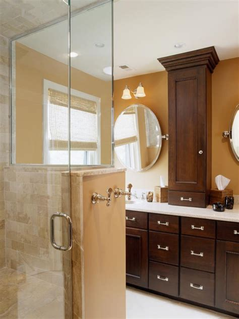 two tone bathroom cabinets photo page hgtv