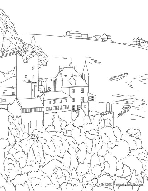 Heidelberg Castle Coloring Pages Hellokids Com Germany Coloring Page