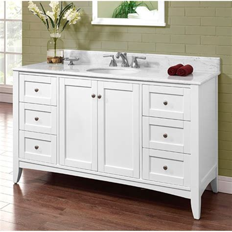 Fairmont Designs Shaker Americana 60 Quot Single Bowl Vanity White Shaker Bathroom Vanity