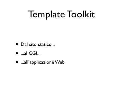 Perl Template Toolkit perl template toolkit