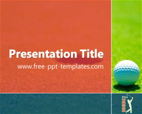 golf powerpoint template pga tour ppt template free powerpoint templates