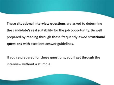 Mba Situational Questions by Questions And Answers Situational