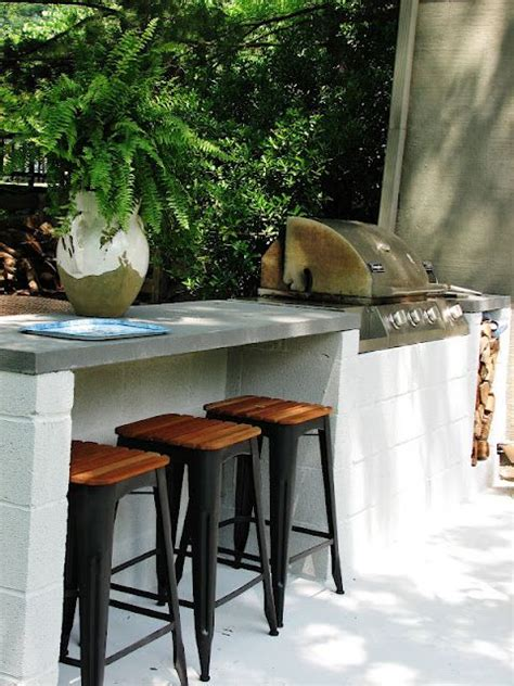 outdoor kitchen bar stools built in grill built ins and bar on pinterest
