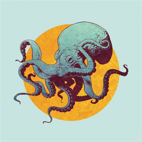 printable octopus art octopus art print by eric persson society6