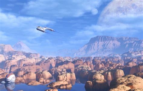 Flight From The Water Planet wallpaper the sky water clouds planet helmet flight