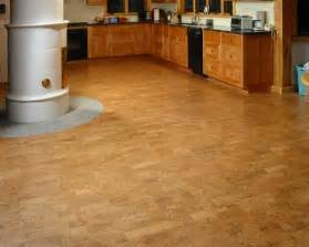 kitchen design with cork flooring ideas for big space