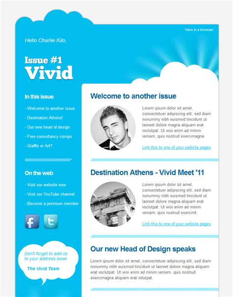 template for email newsletter email newsletter templates 40 picked premium designs